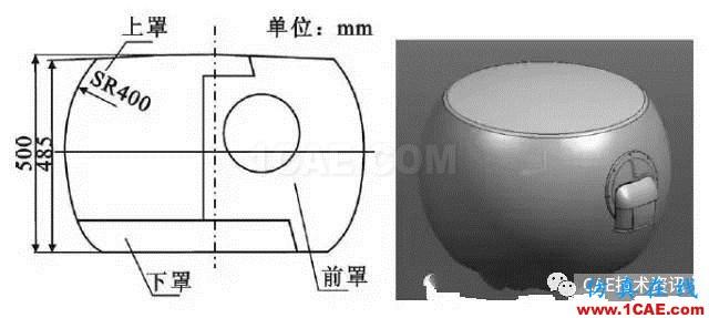 某机载雷达天线罩结构设计