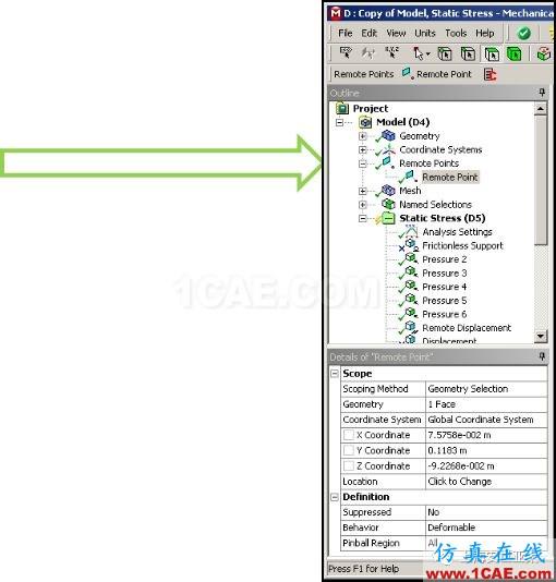 技术分享 | APDL在ANSYS WORKBENCH MECHANICAL中的应用概述 —Remote Points中插入命令ansys培训课程图片1