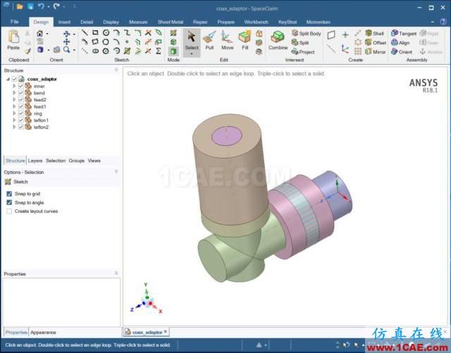 技巧 | SpaceClaim与HFSS几何参数双向互动HFSS分析图片1