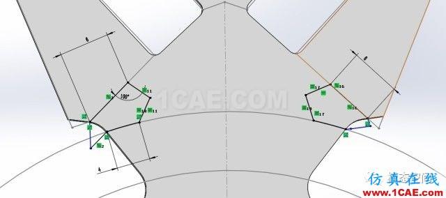实例操作|新能源汽车用永磁电机转子的全砖形单元划分方法Maxwell培训教程图片13