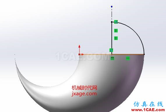 SolidWorks如何通过扫描创建太极图?solidworks simulation培训教程图片11
