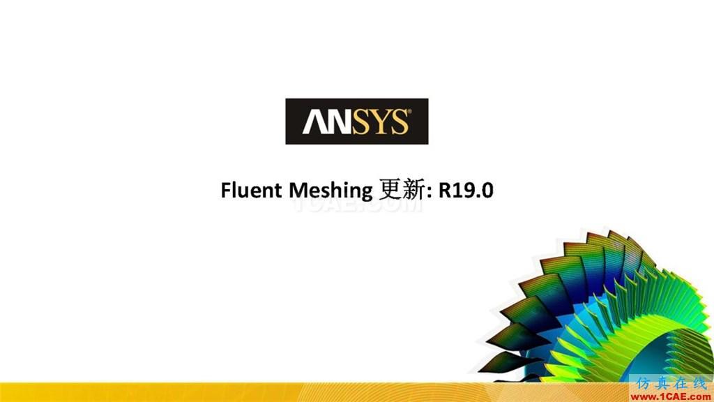 ANSYS19.0新功能   Fluent Meshing详解fluent结果图片1