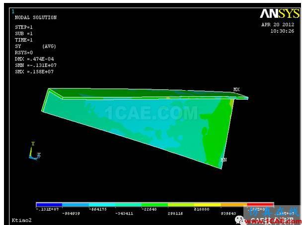 空调支架的有限元分析ansys分析图片13
