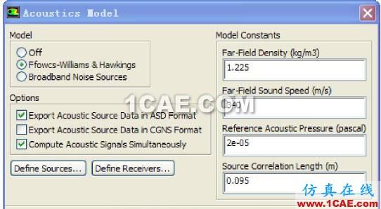 Ansys Fluent 声比拟模型(F-W-H)使用方法介绍fluent分析案例图片5