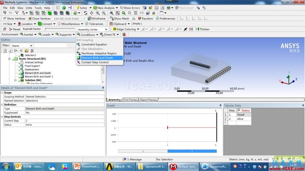 视频分享 | ANSYS 19.0新功能——Workbench下新增网格生死单元ansys培训的效果图片1