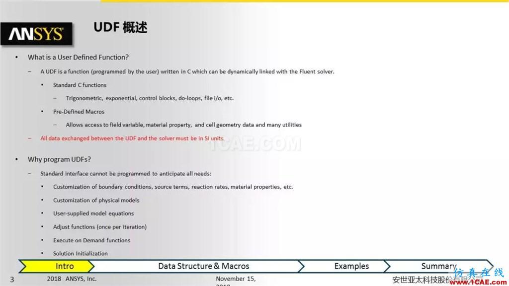 ANSYS Fluent UDF 功能概述fluent分析案例图片3