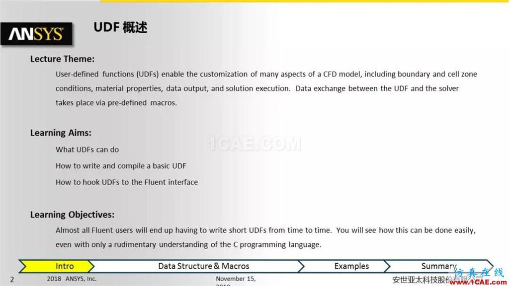 ANSYS Fluent UDF 功能概述fluent分析案例图片2