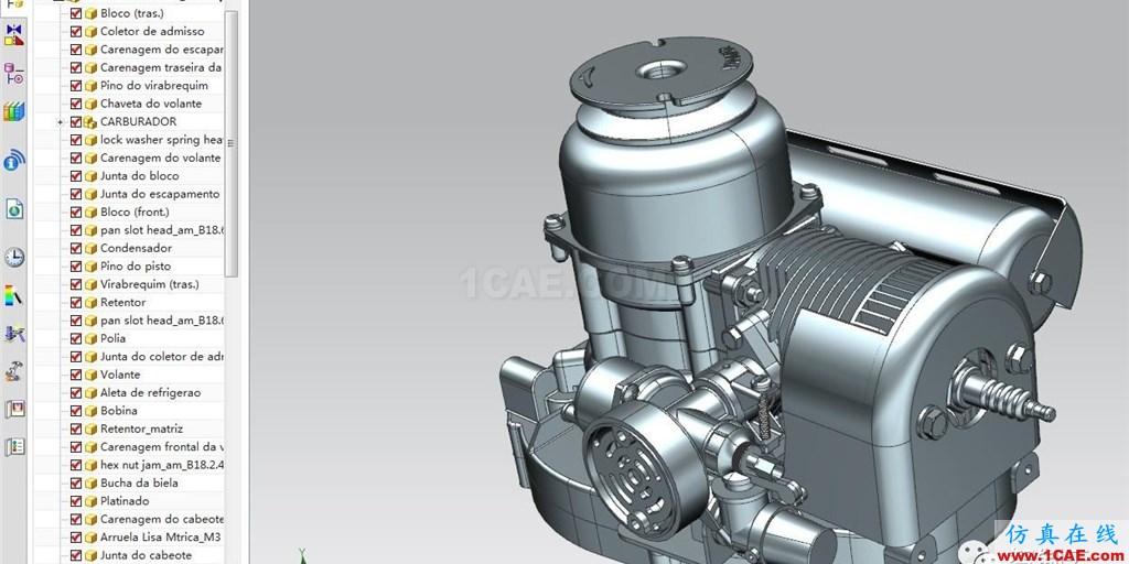 【发动机电机】2冲程洋马KT-30发动机3D模型 UG(NX)设计下载ug设计教程图片3