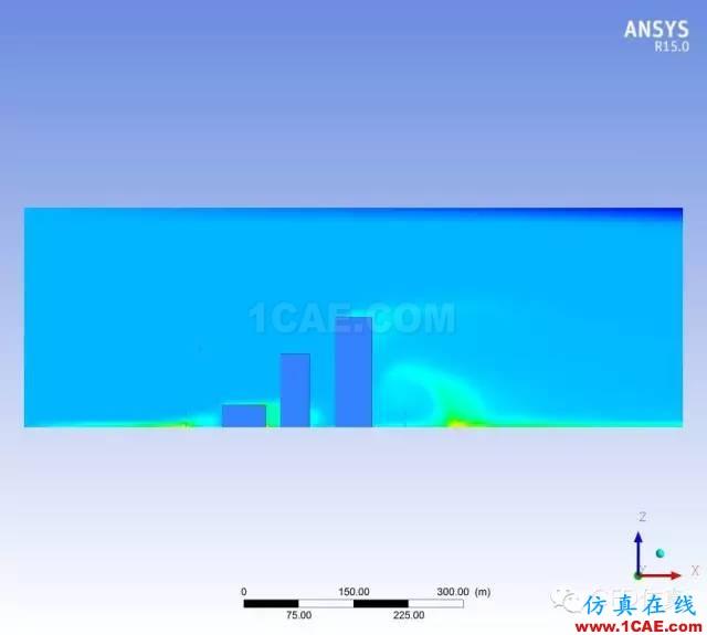 fluent城市建筑流体分析案例,气流,风,和雾霾fluent结果图片7