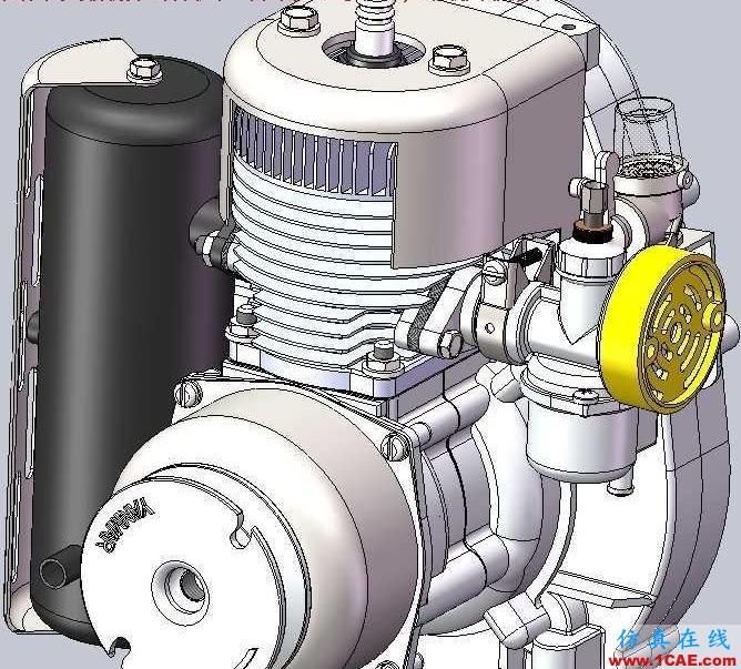 【发动机电机】2冲程洋马KT-30发动机3D模型 UG(NX)设计下载ug设计教程图片1
