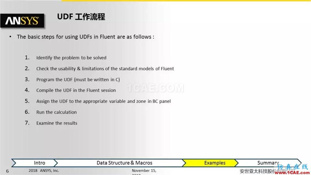 ANSYS Fluent UDF 功能概述fluent分析案例图片6