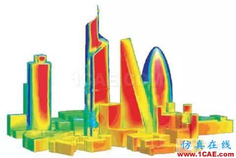 fluent城市建筑流体分析案例,气流,风,和雾霾fluent结果图片4