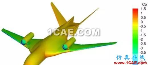 1、压缩机、涡轮机分析 气动稳定性设计是当代航空发动机发展研制过程中的重要技术问题之一。在航空发动机中,对气流最敏感的部件是风扇、压气机和涡轮。在以上3个部件中,CFD的主要应用集中在对压气机和涡轮效率分析上,多级压气机/涡轮最主要的气动问题就是各级流动是否匹配,总的效率是否达到设计要求。在涡轮方面,CFD不仅可以计算涡轮效率,而且对涡轮叶片的冷却效果分析有着重要的应用。 2、飞机发动机舱内灭火过程Fluent分析 飞机发动机灭火系统极为复杂,而且灭火过程对于飞机安全性影响极大,因此CFD分析已经成为必不