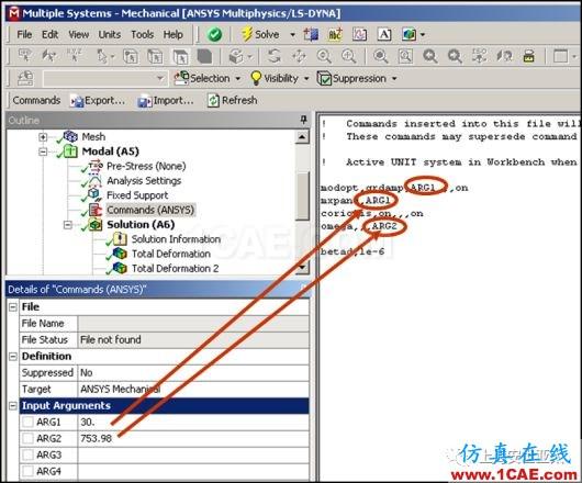 """技术分享   APDL在ANSYS WORKBENCH MECHANICAL中的应用—""""Analysis""""中插入命令ansys仿真分析图片2"""