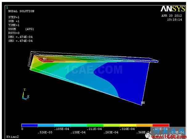 空调支架的有限元分析ansys分析图片12