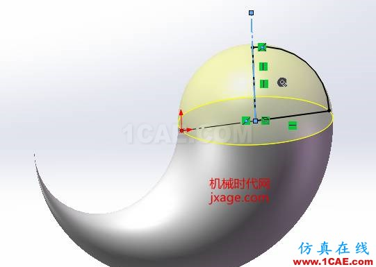 SolidWorks如何通过扫描创建太极图?solidworks simulation培训教程图片12