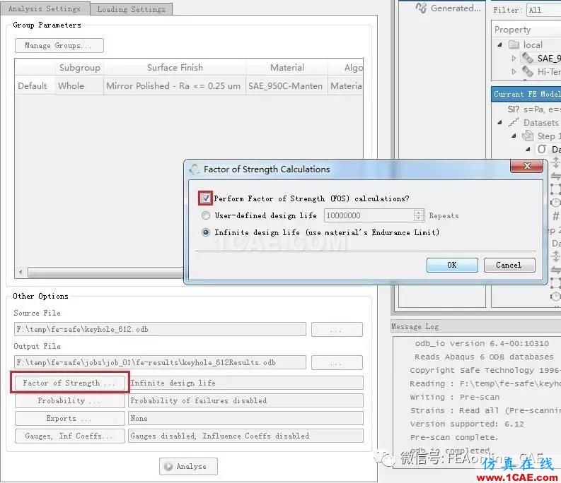 FE-SAFE使用Abaqus的ODB文件进行疲劳运算【转发】fe-Safe分析案例图片3