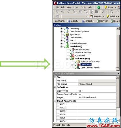 "技术分享 | 【完结篇】 APDL在ANSYS WORKBENCH MECHANICAL中的应用—""Solution""中插入命令ansys分析案例图片1"