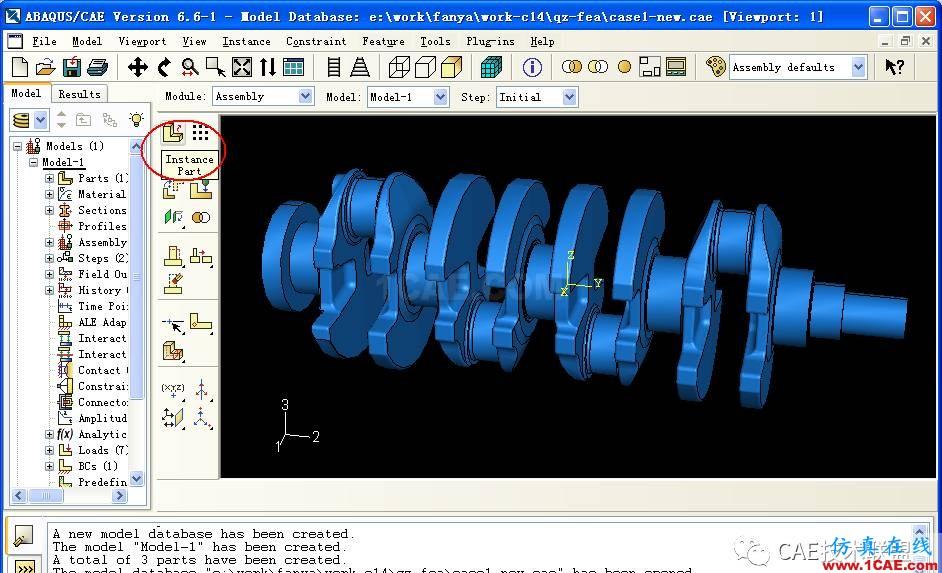 ABAQUS应用例子-有扭矩的曲轴有限元分析abaqus静态分析图片7
