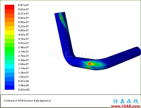 使用FLUENT冲蚀模型和离散相模型模拟3D弯管中的流动冲蚀现象fluent图片21