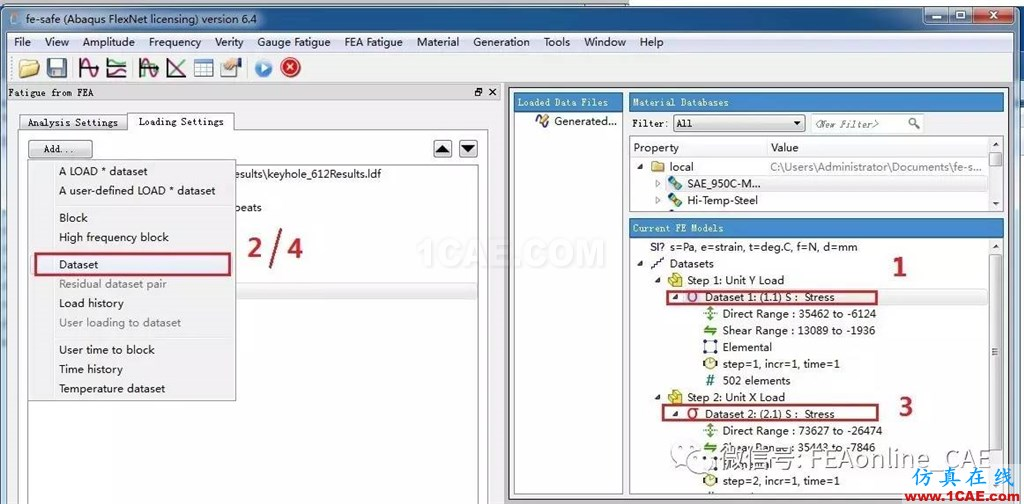 FE-SAFE使用Abaqus的ODB文件进行疲劳运算【转发】fe-Safe分析图片2
