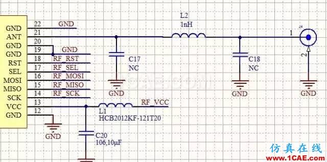 【图5】 ZM470SX-M评估板PCB示例 在空气中,频率为470MHz的电磁波波长为63CM,若设计一款标准的半波偶极子天线,则这款天线至少为半个波长,即31.5CM。实际应用中,绝大部分的产品并没有给天线设计预留这么大的空间,所以普遍采用弹簧天线。使用这种弹簧天线时,天线接在不同的板子上,其性能参数是不一样的。这是因为这种类型的天线,弹簧只是整个天线的一部分,另一部分是电路板上的地,故在电路铺地的时候就得有讲究了,总原则就是:一是要尽可以使天线垂直电路板安装,二是要使铺地的铜块尽量大并且连续,并依靠