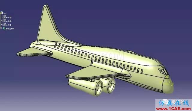 【飞行模型】航空飞机表面外形3D图纸 CATIA设计 IGS格式Catia分析图片3