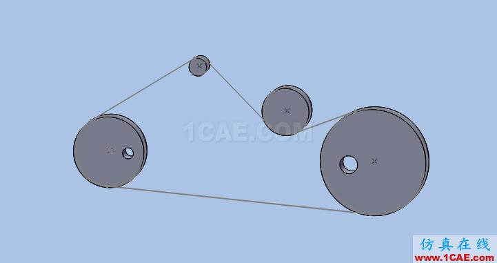 solidworks如何使用布局草图创建皮带仿真?solidworks simulation应用技术图片10