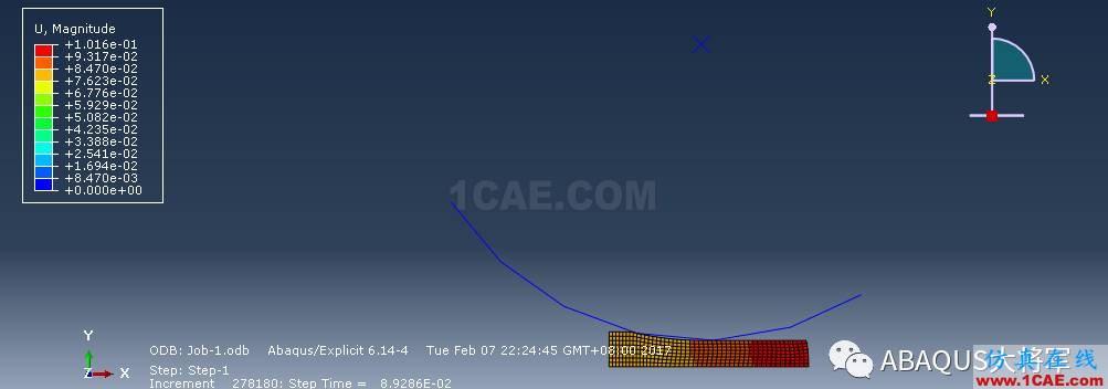 ABAQUS案例的Abaqus/CAE再现—厚板辊压abaqus有限元分析案例图片60